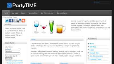 template joomla gratuit francais partytime template joomla 1 6 1 7 gratuit