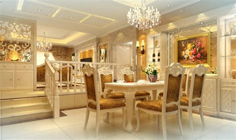 Romantic Home Decor by French Neo Classical Romantic Dining Room 3d House Free