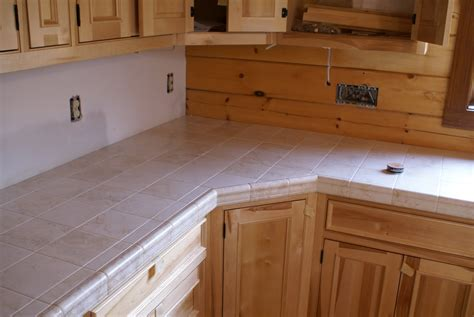 Tile Countertops Kitchen Bend Retreat Romney West Virginia Countertop Tile Cabinets Completed