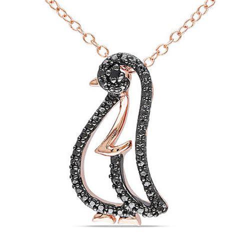 sterling silver black fashion penguin pendant