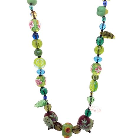 green bead necklace kookie couture green glass bead necklace at jewellery4