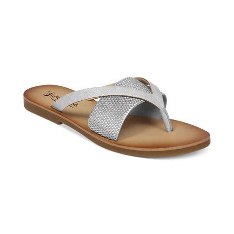 lucky brand sandals lucky brand womens baxx flat sandals in silver lyst