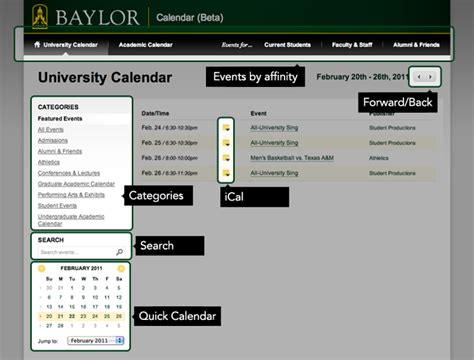 Baylor Academic Calendar Baylor Academic Calendar 2016 Calendar