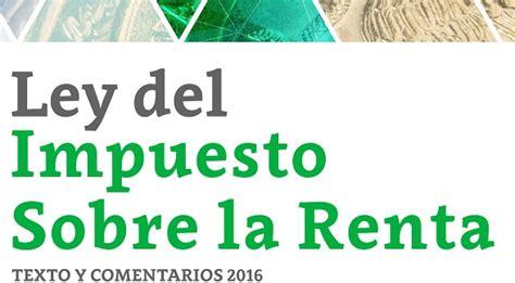 ley de isr 2016 word imcp instituto mexicano de contadores p 250 blicos