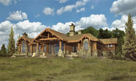 simple log cabins log cabin ranch style home plans custom