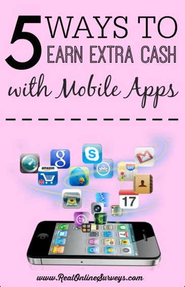 Real Ways To Make Extra Money Online - 5 ways to earn extra cash with mobile apps