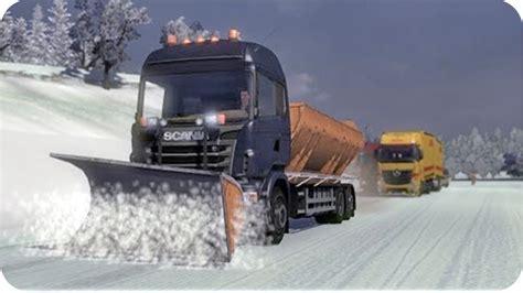 euro truck simulator 2 snow mods simulation game modes ets2 winter mod euro truck simulator 2 youtube
