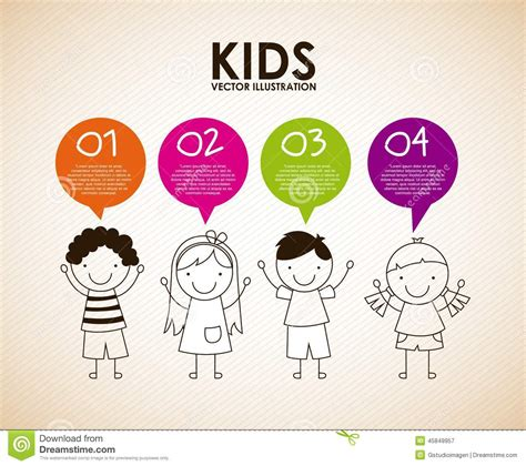 kids designs kids design stock vector image of child nice little