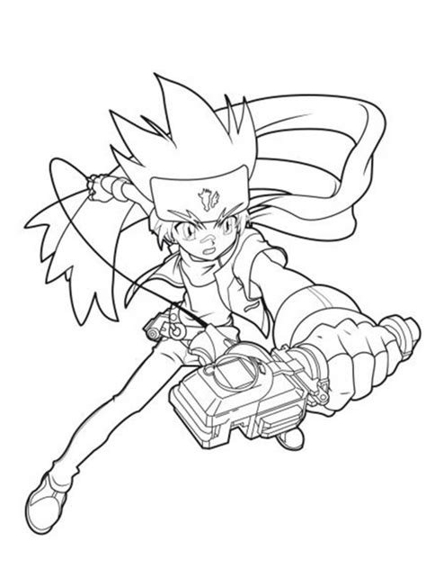 free coloring pages of beyblade