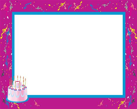 Picture Frame Birth Day Card Template by 16 Happy Birthday Frames Psd Images Happy Birthday
