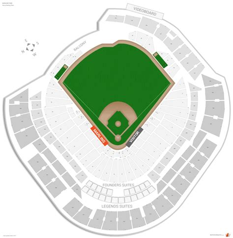 seating chart miami marlins miami marlins seating guide marlins park rateyourseats