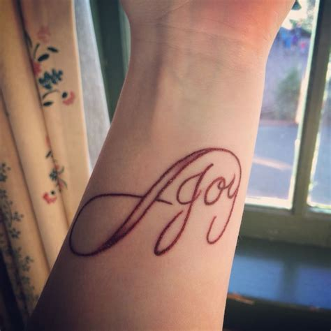 infinity joy tattoo 17 best images about tattoo ideas on pinterest names