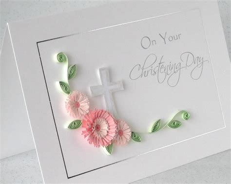 Handmade Christening Cards - paper cards quilled christening card