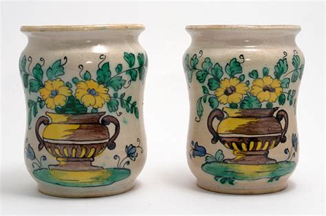 Flower Vases For Sale by Pair Of Italian Alberellos With Flower Vase Dec 18th