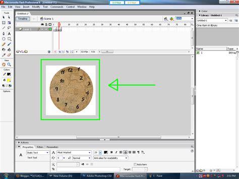Cara Membuat Jam Dinding Dengan Macromedia Flash 8 | membuat jam dinding dengan macromedia flash 8 metazo blog