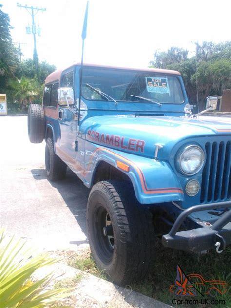 jeep scrambler blue jeep scrambler cj8 sky blue w rally top family roll bar