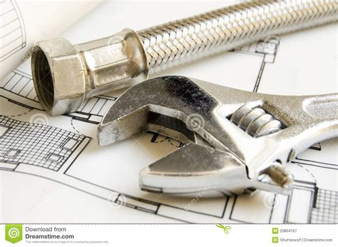 Stock Plumbing by Plumbing Tools Royalty Free Stock Photography Image