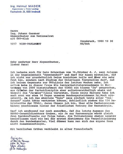 Offizieller Brief Schweiz Die Tiwag Org Tagebuch 2006