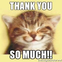Thank You Very Much Meme - thank you so much very happy cat meme generator