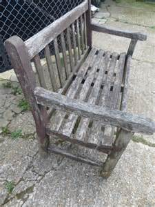 old garden bench antiques atlas vintage weathered teak lister garden