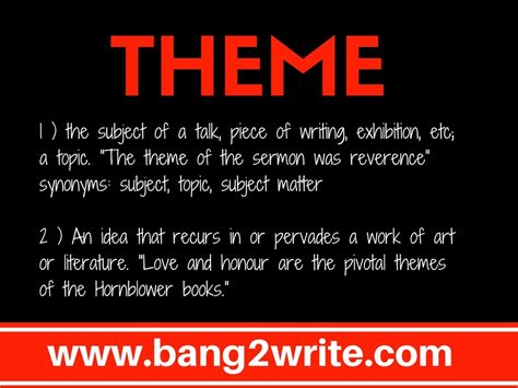 meaning in themes 3 important tips about theme and story bang2write
