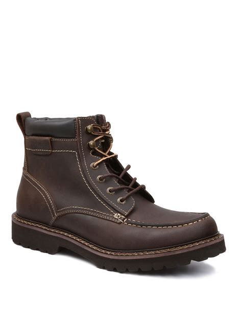 bass s boots g h bass co errol leather boots in brown for lyst