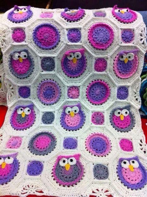 crochet pattern owl baby blanket crochet owl blanket everything owl pinterest crochet