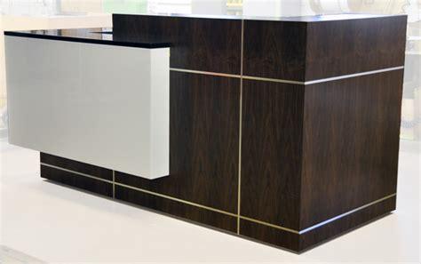 Arnold Reception Desks Inc Custom Anglo Irish Bank Stainless Steel Reception Desk