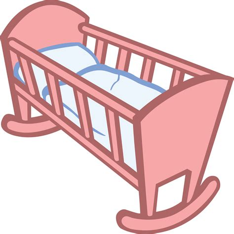 a baby crib free clipart of a baby crib