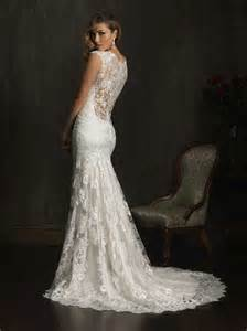 fitted wedding dresses real photo fitted v neck lace wedding dress with illusion lace back slim destination bridal