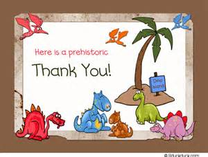 dinosaur thank you card prehistoric cute amp colorful party