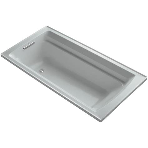 Ox 466 Batrhroom Scale Oxone Grey kohler escale 6 ft center drain soaking tub in white k 11343 0 the home depot