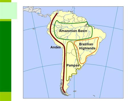 south america map highlands highlands map my