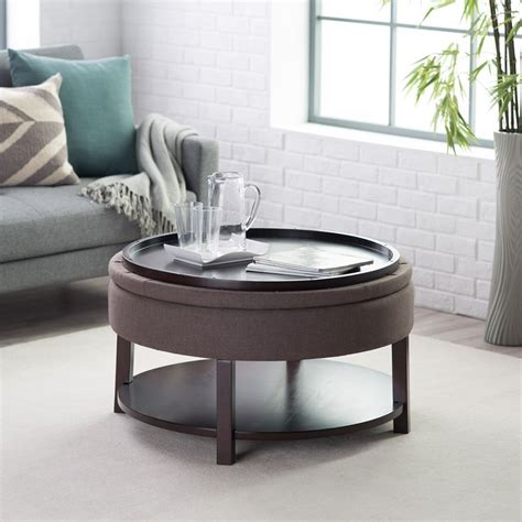 round storage ottoman with tray belham living dalton coffee table round tufted storage