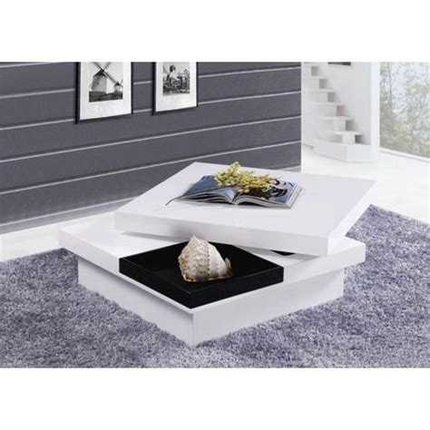 envie de meubles table basse carr 233 e turin laqu 233 e plateau
