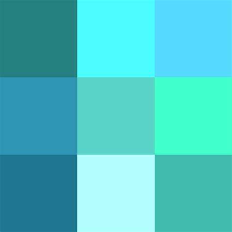 what color is turquoise shades of cyan
