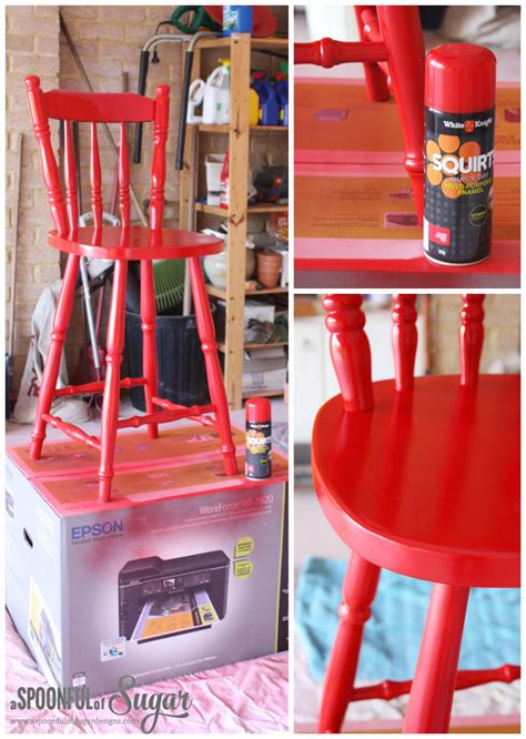 Chair Covers For Dining Room Chairs diy transform an old wooden chair part 2 a spoonful