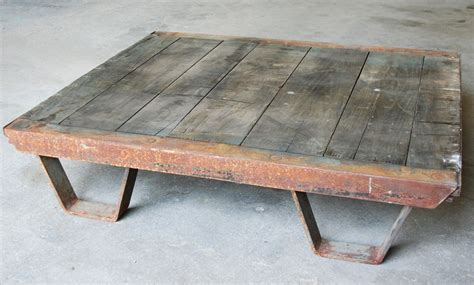 Vintage Industrial Coffee Table Pallet Industrial Industrial Coffee Table