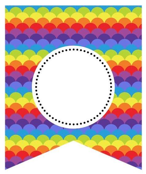 printable rainbow birthday banner rainbow bunting pinterest rainbows banners and