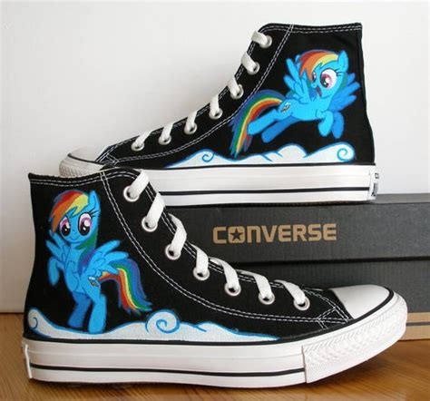 my pony shoes painted converse shoes my pony by