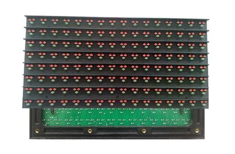 Led Running Text Outdoor p16 dip outdoor green dual color 16 8 pixel led module