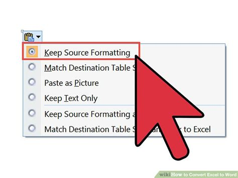 convert word table to excel how to convert excel to word 15 steps with pictures