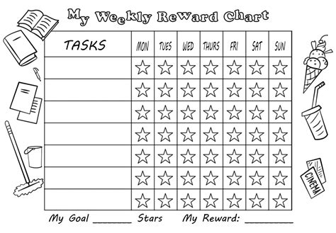 free printable weekly reward charts my weekly reward chart with stars free printable
