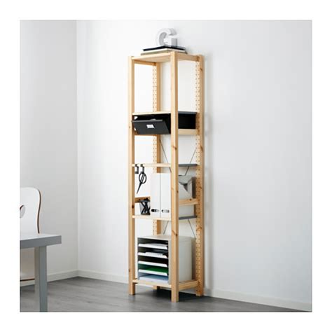 Shelving Units With Drawers ivar shelving unit with drawers ikea