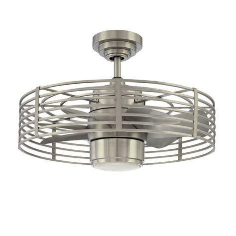 satin nickel ceiling fan designers choice collection enclave 23 in satin nickel