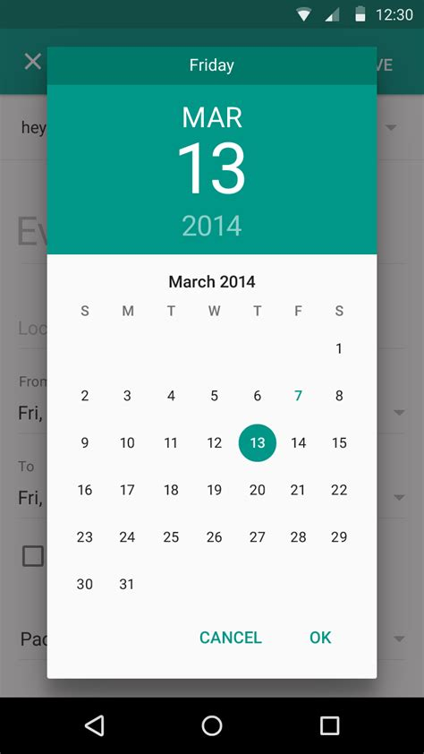 android date picker change datepicker dialog color for android 5 0 stack overflow
