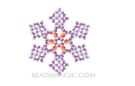snowflake bead pattern free pattern for snowflake pendant beads magic