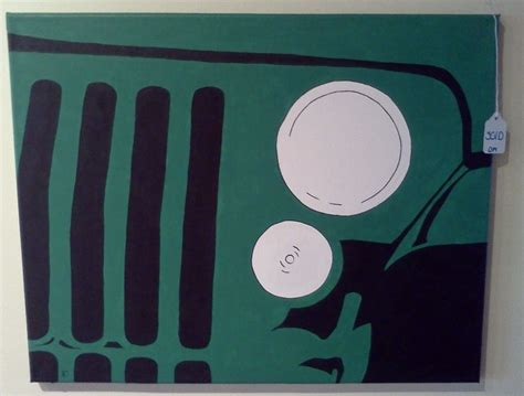 jeep painting canvas quot jeep quot acrylic on canvas by dadra jeep