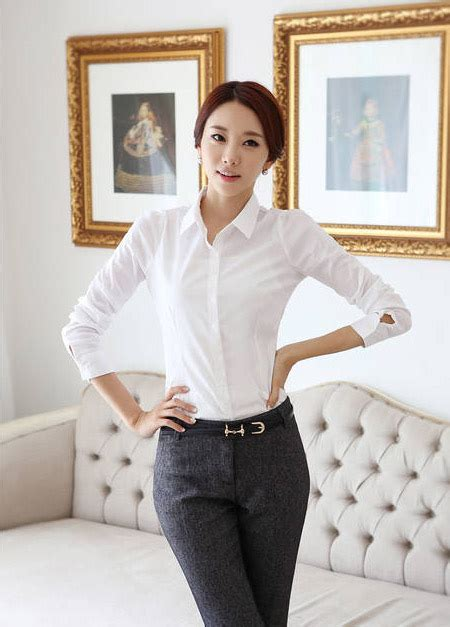Baju Kerja Kemeja Blouse Wanita Korea Import Putih Biru White Pink kemeja wanita putih polos lengan panjang model terbaru jual murah import kerja