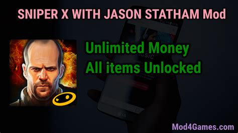 mod game unlimited money sniper x with jason statham mod unlimited money all